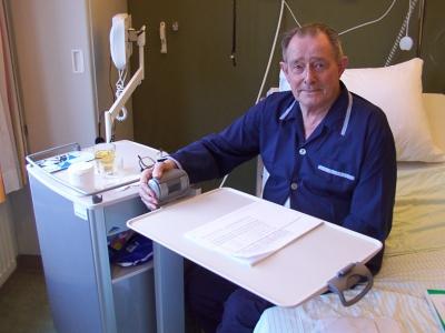 2006 met sinterklaas in het ziekenhuis